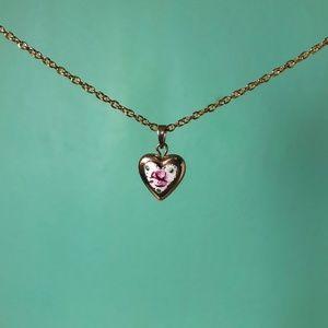 Jewelry - Vintage 14K Gold Filled Valentine's Heart Locket